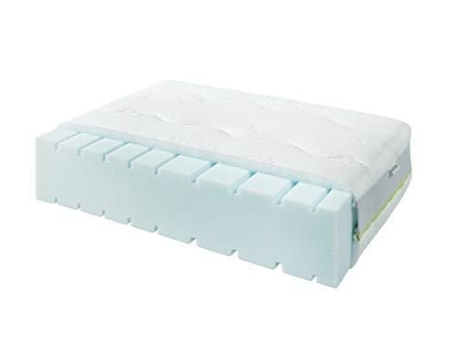 Materasso per letto Emma 200 x 90 x 14 cm con rivestimento anti-umidità in Tencel®