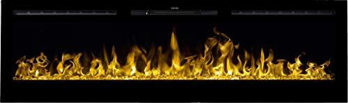 Chimenea eléctrica Majestic 65, (750 W o 1500 W), simulación de fuego...
