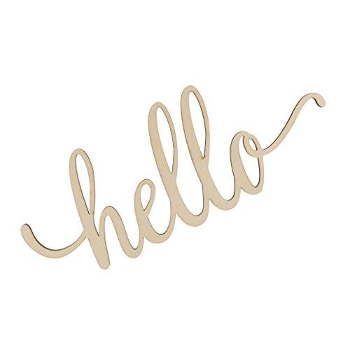 Holzbuchstaben Deko Schriftzug Hello Dekobuchstaben 3D Wanddeko, Gold ()