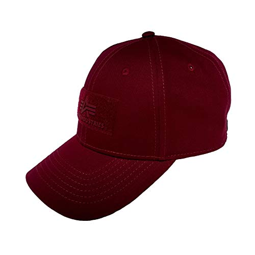 Alpha Industries VLC Cap Streetwear Basecap verstellbar, Farbe:Burgundy
