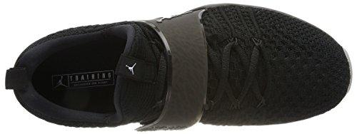 Nike Jordan Trainer 2 Flyknit, Scarpe da Ginnastica Uomo Nero (Black/black-white)