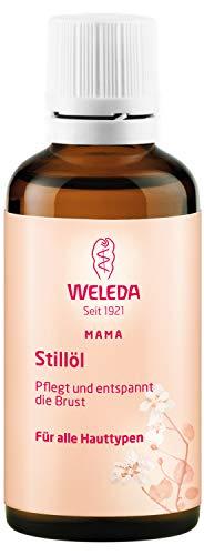 WELEDA Stillöl, Naturkosmetik Brustöl gegen Spannungsgefühle in der Schwangerschaft und beim Stillen, zur Förderung der Durchblutung der Haut (1 x 50 ml)