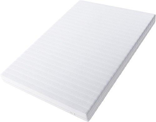Hilding Sweden Essentials Schaumstoffmatratze in Weiß / Mittelfeste Matratze mit orthopädischem 7-Zonen-Schnitt für alle Schlaftypen (H2-H3) Classic / 200 x 120 x 16 cm