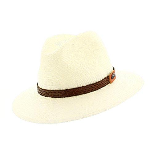 votrechapeau-Panama-Stroh Brisa-Hut Fedora-Rand gesenkt, Brisa Bord Baissé 61, Weiß, Brisa Bord Baissé 61 -