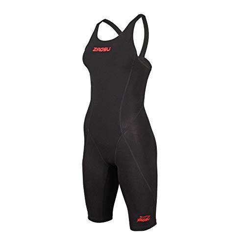 ZAOSU Wettkampf-Schwimmanzug Z-Speed 2.0 für Damen & Mädchen | Premium Schwimmanzug mit hoher Kompression für schnelle Schwimmzeiten, Farbe:schwarz, Größe:44