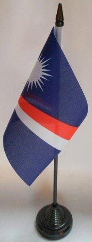Marshall Inseln 10,2x 15,2cm Tisch Flaggen mit Sticks & Grundlagen (Insel Kostüme)