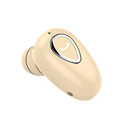 LQIAN YX01 Neue Bluetooth-Kopfhörer, Bluetooth 4.1 im Ohr Sport Wireless Earphones, Headset HD-Klangqualität 6 Stunden Musiklänge Kopfhörer, Mini Sports Workout Earbuds, mit Mikrofon (Gold)