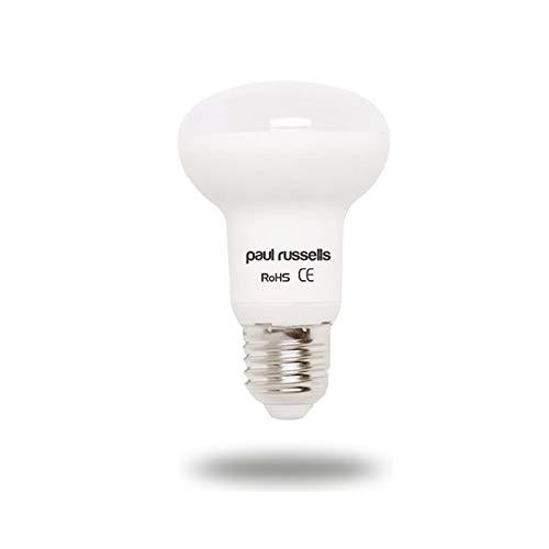 Paul Russells Reflektor-LED-Leuchtmittel, 7 W, E27, ES, große Edison-Schraube, helle 7 W = 60 W, R63 Spot-Lampe, 120 Strahler, 4000 K, Kaltweiß, 60 W Glühlampen-Ersatz