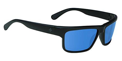 Snowboard Damen Oakley Brille (Spy Sonnenbrille Frazier, Matte Black-Happy Bron Polar W/Blue Spectra, One size, SPYGLA_FRA)