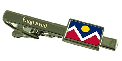 Denver City USA Krawattenklammer graviert im Beutel