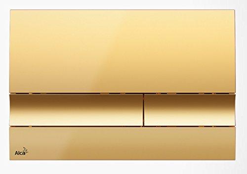Drückerplatte für WC Vorwandelemente WC-Spüle Farbe Gold 3L/6L Betätigungsplatte Platte Betätigungstaste