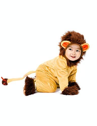 König Kostüm Baby Des Dschungels - IKALI Baby Jungen Mädchen Löwe Kostüm,Halloween Tier Pyjama,OneSize Strampler Overall 5PCS