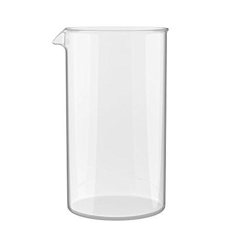 bonVIVO Ersatzglas für alle handelsüblichen Kaffeebereiter und French Press (350 ml, 3 Tassen, 3 Cups) - Ersatzbehälter - - 3-cup Ersatz-glas