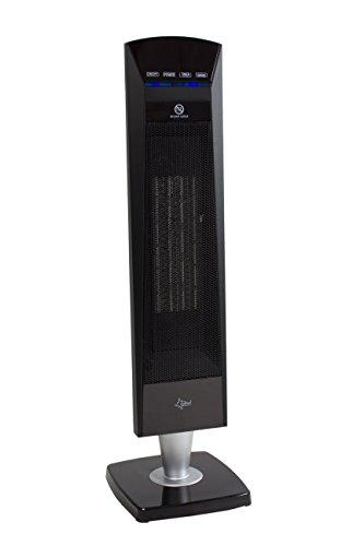 SUNTEC PTC-Heizlüfter Heat Tower PTC Design 2000 OSC [Für Räume bis 35 m³ (~15 m²), 3 Heizstufen + 2 Leistungsstufen, Oszillation, Timer + Fernbedienung, 2000 Watt] - 2