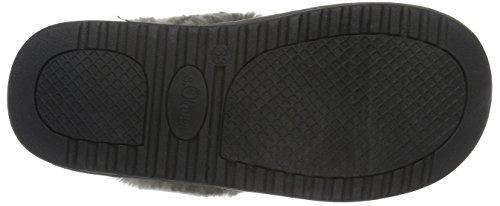 s.Oliver Damen 27100 Pantoffeln Grau (Graphite Struc 226)