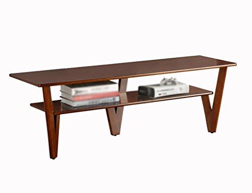 HWF Casiers, étagères TV Cabinet Petit Appartement Chambre Salon Table Basse En Bois Solide Creative Moderne Minimaliste 120 * 40 * 41 cm (Couleur : Walnut color)