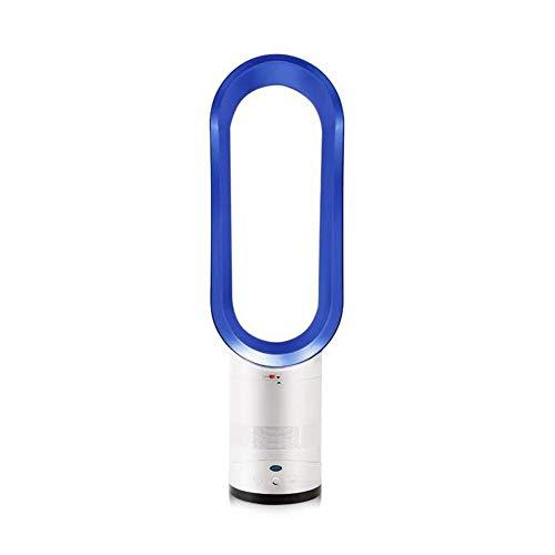 H-O Blattloser Lüfter, 16-Zoll-Desktop-Lüfter, Ferngesteuerter Luftstrom-Lüfter für zu Hause,Blue -