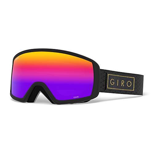 Giro Erwachsene Gaze Flash Ski Und Snowboard Brille, Black Bar/Rose Lens, One Size