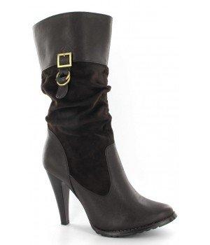 Chaussure Bas Prix - Bottes femme - JB221-4 Marron