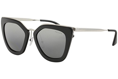 Prada Damen 0PR53SS 1AB6N2 52 Sonnenbrille, Schwarz (Black/Grey Silver),
