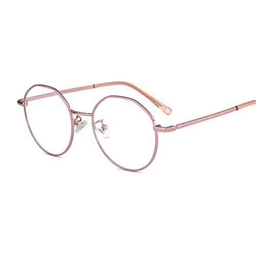 GBST New Reading Glasses Men and Women Same Paragraph Metal Legs Plastic Frames Single Light Reading Glasses,pink