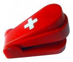 Stapler der klammerlose Hefter rot Klammeraffe ohne Metallklammern heften