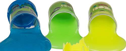 Neon-Schleim leuchtet im Dunkeln Schleimtonne Glow in The Dark Mega-Spaß Slime Putty Geburtstag-Geschenk-Idee Mitbringsel Mitgebsel Kneten Werfen Drücken (6er Set)