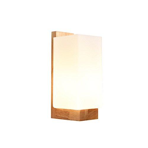 Amadoierly Wandleuchte Led Massivholz Moderne Minimalistische Schlafzimmer Nacht Holz Wohnzimmer Handwerk Lampe / 10X12X25cm