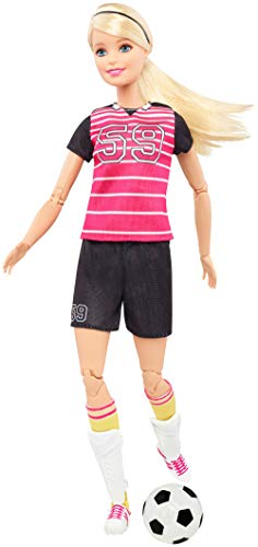 Barbie DVF69 - Made to Move Fußballspielerin Puppe