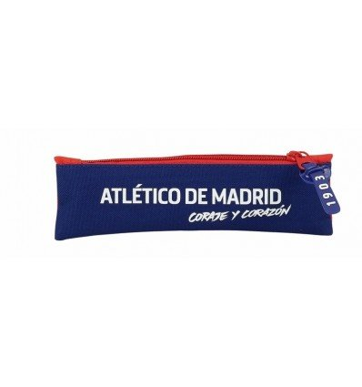 Safta Estuche Atlético De Madrid 'Coraje' Oficial Escolar 200x60mm