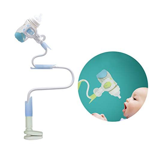 LY-LD Baby Bottle Holder 360 º Rotation Anti-Rebound Multifunktion Holder Hands Free for Bed/Crib/Safety Seats/Baby Carriage,Blue,95CM