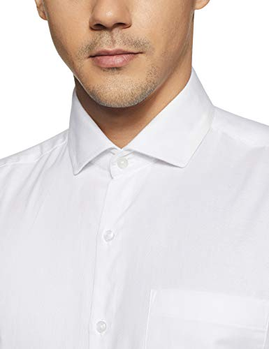 Diverse Men's Solid Slim Fit Cotton Formal Shirt (DVF06F2L01-8-42_White)