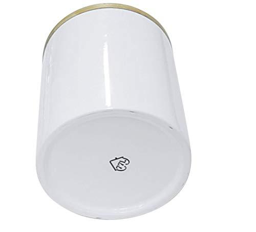 77L Vorratsdose, 1050 ML (35.47 FL OZ), Keramik Vorratsdose mit luftdichtem Verschluss Bambusdeckel - Modernes Design Weißer Vorratsbehälter aus Keramik zum Servieren von Tee, Kaffee, Gewürz und Mehr