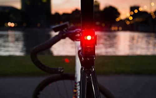 Sigma Sport LED Batterie Fahrradbeleuchtung AURA 25/CUBIC SET, 25 LUX/400 m Sichtbarkeit, batteriebetriebene Fahrradlampe + Rücklicht, StVZO zugelassen, Schwarz - 4
