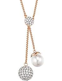 911a002f30 ESPRIT Pearl Sphere Rose S.ESNL92578B420 Collana da donna, in argento  sterling 925 rodiato