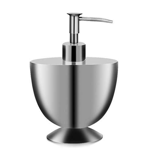 JKL Seifenspender Dicker Edelstahl-Seifenspender, 350ml Trophy Shape 360   ° drehbarer Pressenkopf-Bad-WC-Flüssigkeitslotion-Flaschenbehälter für Haus und Gewerbe, 11,8x17,3 cm (Wc-trophy)