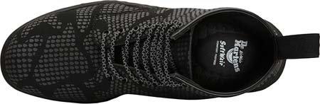 Dr.Martens Womens Newton Reflective Snake Skin Nubuck Boots Noir
