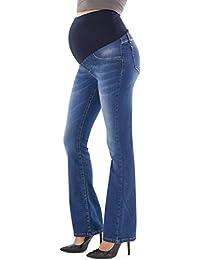 5435cf0838a8d MAMAJEANS Trieste - Jeans Premaman a Zampa di Elefante