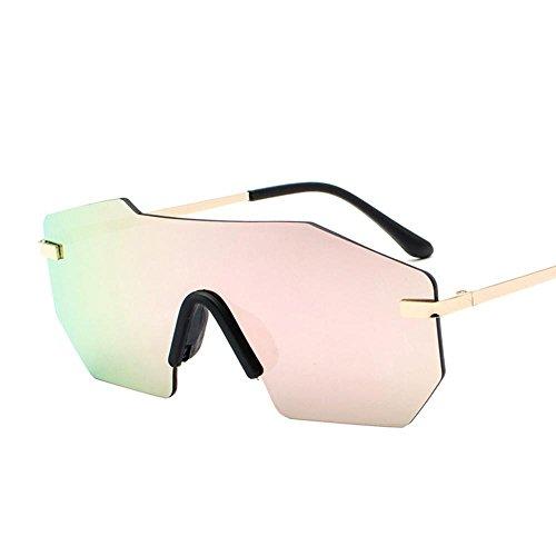Axiba One-Frame Heller Farbe Sonnenbrille männliche und weibliche Persönlichkeit großen Rahmen Sonnenbrillen europäischen und amerikanischen Trend Kreatives Geschenk
