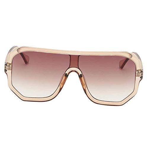 P Prettyia Square Sonnenbrille Shades Brille Frauen Männer UV-Schutz, Oversize - Champagner