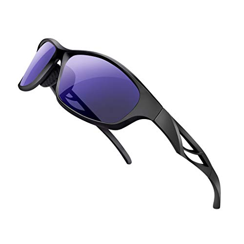Rosennie Sonnenbrille Retro Vintage Unisex Brille Professionel Polarisierte Sportbrille Casual Sport Outdoor Sonnenbrille UV400 Schutz Sunglasses Cycling Glasses für Autofahren Reisen