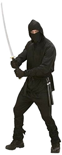 Iden - Disfraz de ninja, talla L (42/44), color negro
