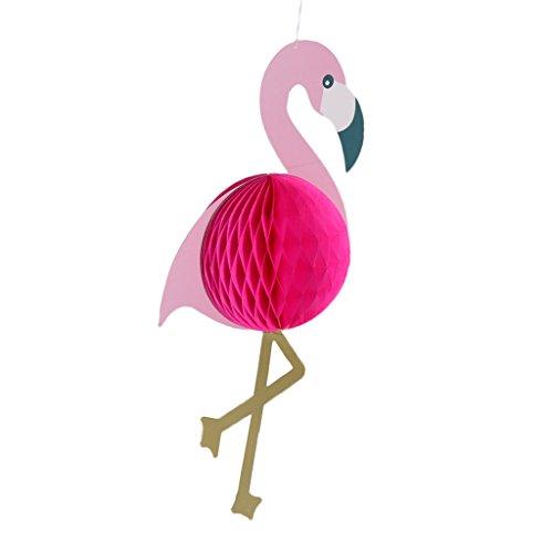 Baoblaze Lustige Flamingo Wabenball Wabenkugel Honeycomb Hänge Deko Ballon Aufhänger Waben Bälle Papier Pompons Dekoration Halloween Party