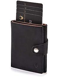 DONBOLSO® Wallety I Slim Wallet im Kreditkartenformat aus Leder mit RFID-Schutz