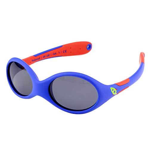 ActiveSol BABY-Sonnenbrille | JUNGEN | 100% UV 400 Schutz | polarisiert | unzerstörbar aus flexiblem Gummi | 0-2 Jahre | 18 Gramm (S, Rocket)