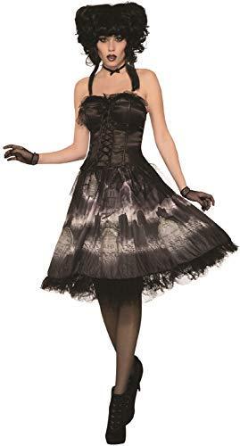 (Fancy Me Damen Vintage Friedhof, Braut, Gothic, dunkel Halloween, Horror-Kostüm)