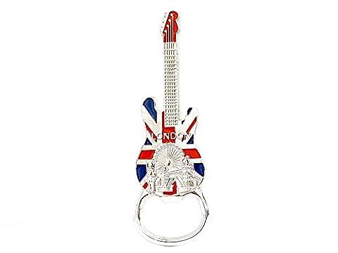 London Magnet Bottle Opener Union Jack Guitar by Gr8vape