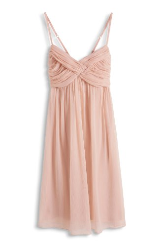 ESPRIT Collection - aus Chiffon 054EO1E057 - Robe Femme Rose (FROSTED PEACH 635)