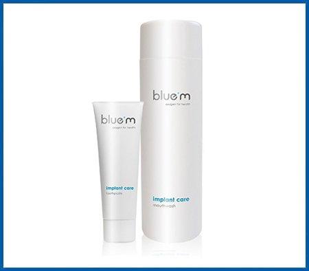 Preisvergleich Produktbild blue®M 2er Set,  Zahncreme 75ml + Mundspülung 500ml,  (Implant care) zum Vorteilspreis