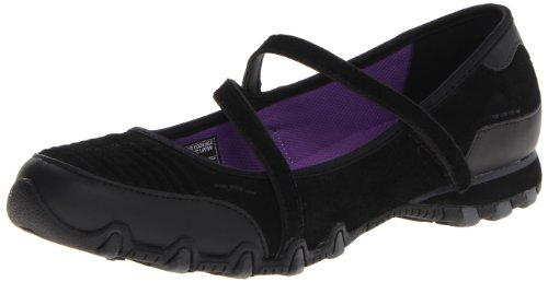 Skechers Bikers Fashion Frontier, Ballerine donna, Nero (BLK), 35